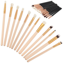 12Pcs Rose Gold multifunctional Makeup Brush Set Eyeshadow Eye Brushes Tool also used as cheeks jaw line chin brushes(China)