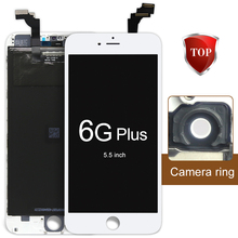 1pcs Replacement Wholesale Repair Parts For iPhone 6 Plus LCD Screen Display And Digitizer Assembly +Camera Holder