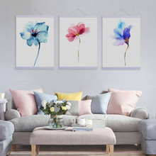 Watercolor Beautiful Plant Floral Rose Wooden Framed Canvas Paintin Modern Nordic Home Deco Wall Art Print Picture Poster Scroll(China)