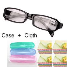 Black Yellow Spring Hinges Vintage With Case + 1.0 1.5 2.0 2.5 3.0 3.5 4.0 unisex reading glasses man woman free shipping(China)