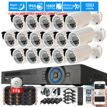 AHD 2MP SONY IMX323 1080P Camera Security Surveillance CCTV System 16CH Full HD 1080P DVR recorder system USB 3G WIFI 2TB Kit(China)