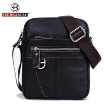 FEIDIKA BOLO Brand Men Messenger Bags Crossbody for Men Shoulder Bags Genuine Leather Bag Man Shoulder Bags Leather Handbags