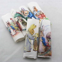 Hand dyed 6 Assorted Cotton Linen Printed Quilt Fabric For DIY Sewing Patchwork Home Textile Decor 15*15cm Peter rabbit