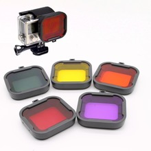 Gopro Accessories Dive Filter Orange Yellow Red Purple Grey 5 pcs/lot Underwater Diving Lens Filtro for GoPro Hero 3+ 4