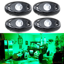 Universal Fit 3-CREE chips 9W High Power LED Rock Light Kit Green For Jeep Truck SUV Off-Road Boat 12V 24V Car Light source