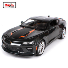 Maisto New 1:18 2017 Chevrolet Comaro Alloy Diecast Car Model With Linked Steering Wheel For Boys Collection Car Toys Gifts