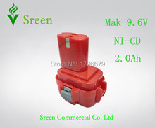 9.6V NI-CD 2000mAh Rechargeable Battery Replacement for Makita Power Tool Battery Packs 9100 9120 9101 9122 9120 PA09 Drill
