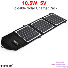 New 10.5W 5V Flexible Foldable Power Bank Solar Pack Portable USB Solar Charger outdoor Sunpower Best Solar Panel for 5V Device(China)