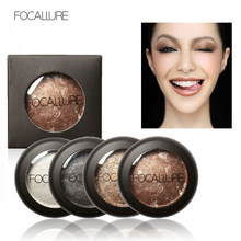 wholesale 100pcs Baked Eyeshadow 10 Colors Eye shadow Palette in Shimmer Metallic Eyes Makeup by Focallure Luminous ,Shimmer