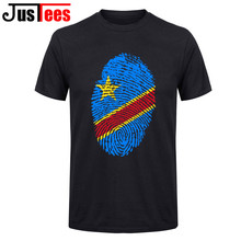 Men t shirt short sleeves men Congo Flag Fingerprint t-shirt homme camisa masculina father's day gift kanye west top hipster tee