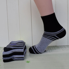 Men cotton socks 75% cotton casual middle tube socks breathable soft mix design in dozen factory direct sale 10pairs/lot FREE(China)