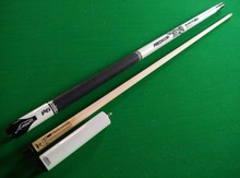 2015 new design white Snooker cue stick 1/2 Jointed Maple wood with mini extension 9.5mm leather cue tip Uni-Loc joint Top Grade