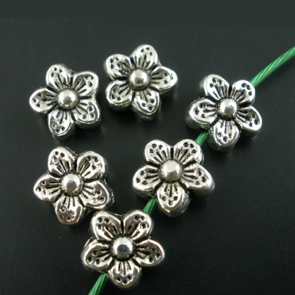 600pcs Mixed Tibetan Silver Alloy Metal Beads Tiny Spacer Craft Beading 5~9mm