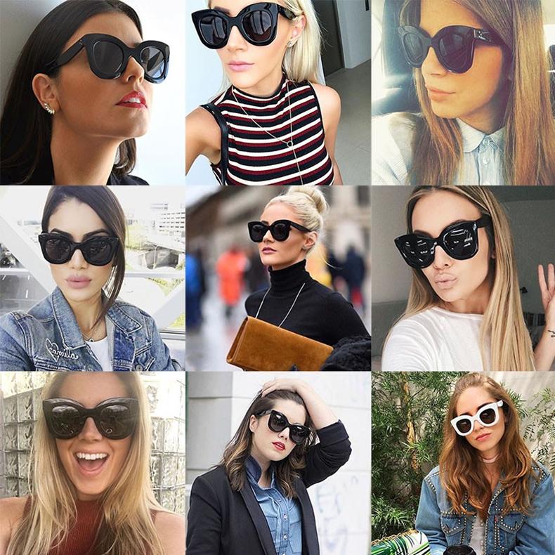 Luxury Cat Eye Sunglasses Women Brand Designer Retro Vintage Sun Glasses Women Female Ladies Sunglass Mirror Lunettes de soleil (2)