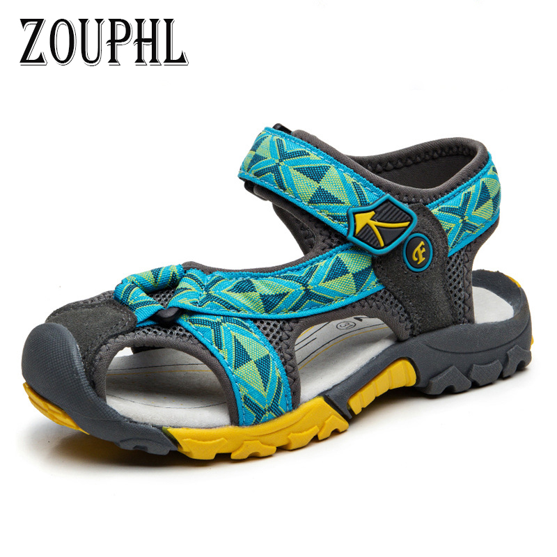 ZOUPHL brand 2017 summer beach kids shoes closed toe sandals for boys designer toddler kids sandal shoes 4-16years old kids nmd <br>
