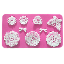 Silicone Mold Cake Mold Lace Mat Fondant Cake Decorating Tools Wedding Flower Butterfly Heart Bow Embossing Mould Bakery E563