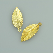 25pcs 31*13mm gold color tree leaf Alloy charms pendant fit necklace bracelet diy Pendants for jewelry making 4007A