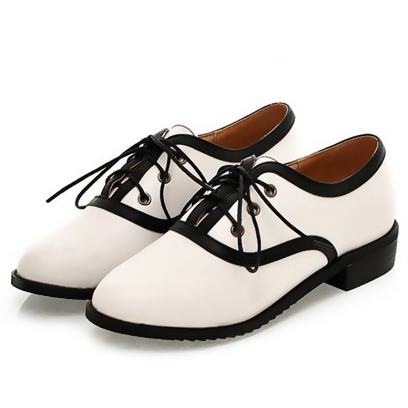 Hot Dale Casual Retro England Style Women Oxford Shoes,Lace-up Round Toe Platform Flat With Women Single Shoes Drop Shipping 982<br><br>Aliexpress