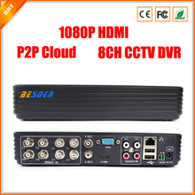 8CH DVR FULL D1 Standalone CCTV DVR Recorder with P2P Cloud, Network Monitoring, Mobile Phone monitoring(China)