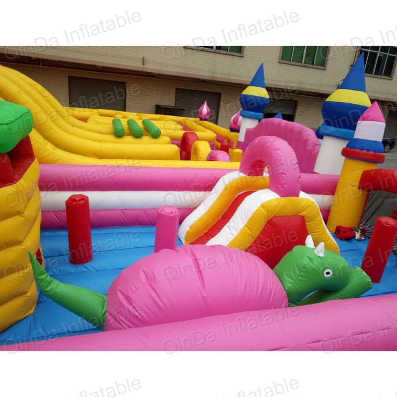 inflatable bouncer slide fun city castle(66)