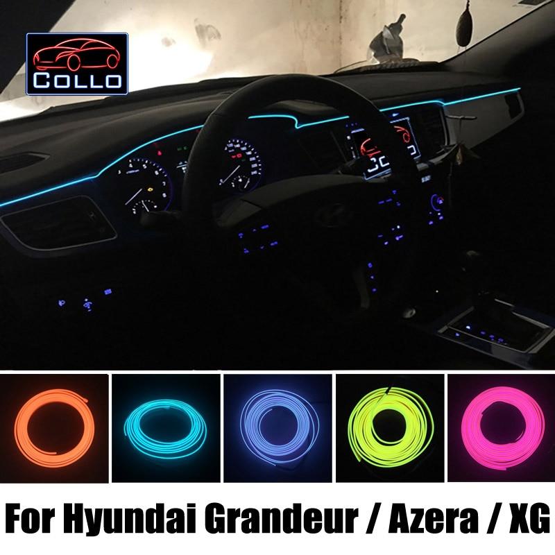 9 Meter  EL Wire For Hyundai Grandeur / Azera / XG25 / XG30 / XG300 / XG350 / Flexible Neon Cold Light Console Decorative Strip<br>