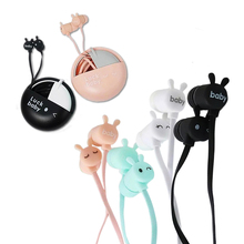 Cute Candy Color Earphones with Macarons case Ear phone for Girls Earbuds for iPhone Samsung Huawei Xiaomi Phone MP3