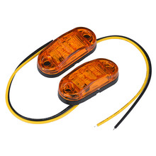 2PCS 12 v / 24 v Tow Truck Side Marker Light Car LED Submersible Lamp Accessories(China)