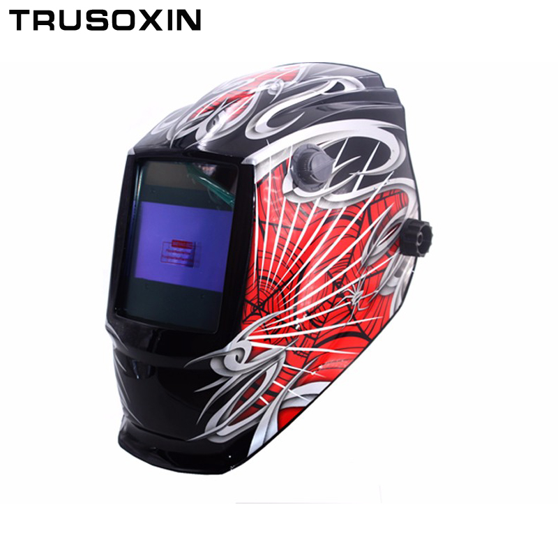 Spide Out control Big view eara 4 arc sensor Solar auto darkening TIG MIG MMA welding mask/helmet/welder cap/glasses/face mask<br>