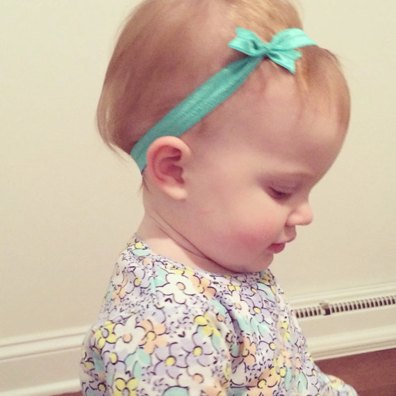 Baby Girls Bow Knot Headband For Infant Hair accessories Child Bows headbands spandex stretch Newborn Hairband Tie knot hairband(China)