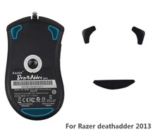 3M Teflon 0.6mm Performance level mouse skates for Razer Deathadder 2013- Mice Feet with free Alcohol pad for clean