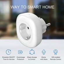Hot Sale Home WIFI Wireless Switch Socket EU Plug Outlet Smart Timer Support Alexa GoogleHome Plug Play