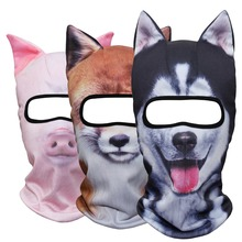 Animal Ear Balaclava Full Face Mask Motorcycle Costume Halloween Party Cat Dog Panda Husky Pig Fox Winter Warmer Hats