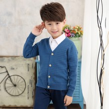 DZIECKO 2017 New Baby Children Clothing Boys Pullover Open Stitch Knitted Cardigan Sweater Kids Spring Autumn Cotton Outer Wear(China)