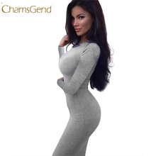 Buy Chamsgend Newly Design Super Sexy Sheath Dress Round Neck Full Sleeve Skinny Tight Knee-Length Bottom Dress Women 161014 for $6.18 in AliExpress store