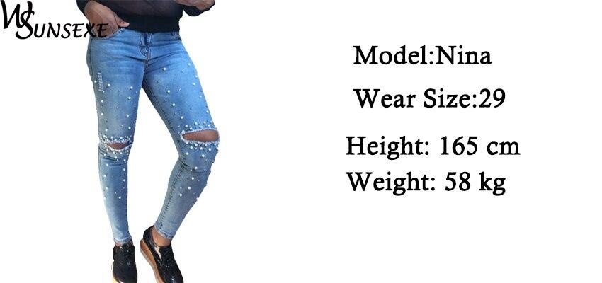 Pärlitega teksapüksid naistele