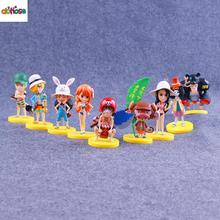 Set of 9One Piece Straw Hat Pirates Luffy Nami Robin Zoro PVC Action Figure Collection Model Kids Toy Doll