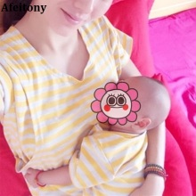 Buy one get one free 0-profit! 2017 new100%cotton out  dress big size summer short-sleeved pregnant women feeding  breastfeeding
