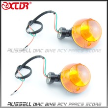 2x Mini Motorcycle Amber Bullet Retro Front Turn Signals Blinker For CAFE RAZER Cruiser Chopper Custom vintage Lights Motorcycle