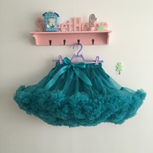 Children's Boutique Clothing Toddler Girls teal color  Fluffy Skirt  puffy tulle teal skirts girls tutus