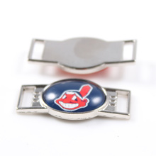 Cleveland Indians MLB Baseball Team Logo Oval Shoelace Charms For Sport Shoes And Paracord Bracelets Jewelry Decoration 6pcs