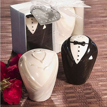 20pcs Beach Theme Wedding Gifts for Guest Away Ceramic Salt and Pepper Shaker Wedding Favour wedding gifts for guests decoration(China)