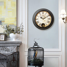 It is the European American country nostalgia retro swing clock clock antique watch Jane Nordic living room(China)