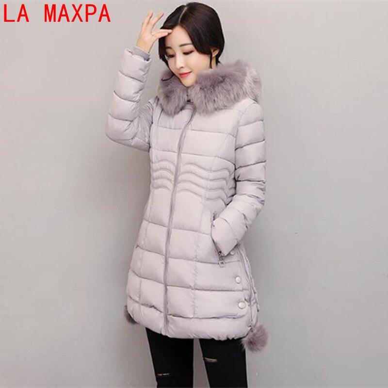 2017 New Arrival Casual Warm Long Sleeve Ladies Basic Coat jaqueta feminina jacket women parkas cotton Women Winter JacketÎäåæäà è àêñåññóàðû<br><br>