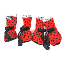 4 PC Dog Pet Cat Puppy Shoes Anti-slip Waterproof Protective Special Boots Shoes