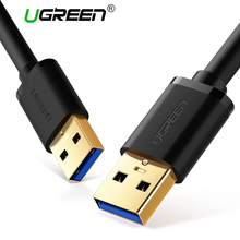 Ugreen USB to USB Cable Type A Male to Male USB 3.0 2.0 Extension Cable for Radiator Hard Disk Webcom USB 3.0 Cable Extender