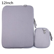 12 Inch Portable Laptop Zipper Bag Denim Canvas Notebook Sleeve Cover Case for Macbook Air / Pro Tablets PC Pack Pouch Dec16
