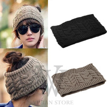 Hot Fashion Women Lady Girl Warm Winter Cap Knitted Empty Skull Hat Hat NEW Hair Band Accessory Free Hot(China)
