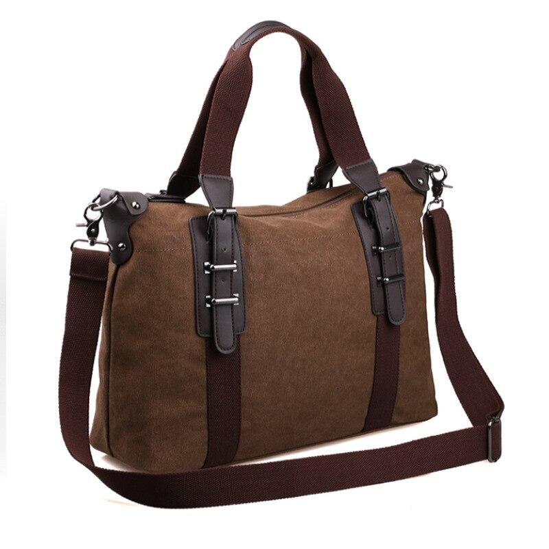 2017 new Korean men BAG canvas casual bag business laptop Shoulder Messenger Bag male bag totes<br><br>Aliexpress