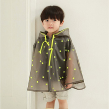 NewArrival Top Fashion Fluorescence rain jacket Thick batwing kids Raincoat  Long Outdoor Poncho child rain coat kids