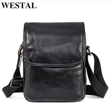 Buy WESTAL Cowhide Genuine Leather Men Bag Small Ipad Flap Crossbody Bags Black Mini Shoulder Bags Casual Messenger Bag Men Leather for $38.50 in AliExpress store